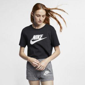 Nike Tee-shirt court Sportswear Essential pour Femme - Noir - Taille S - Female