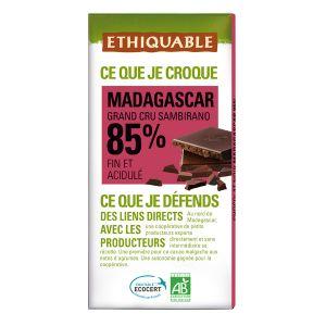 Ethiquable Chocolat noir 85% cacao Madagascar BIO 100g