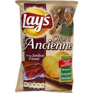 Lay's Chips à l'ancienne jambon fumé - Le paquet de 120g