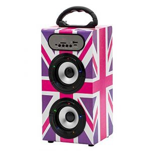 Teknofun Tour Enceinte Bluetooth - Uk Girly Style [Audio/Sound]