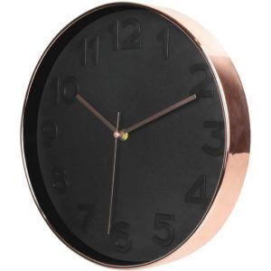 Horloge ronde noir cuivré d 30 5 cm