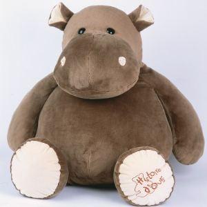 Histoire d'ours Peluche Hippo géant 60 cm