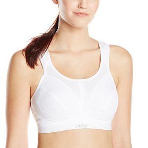 Shock Absorber Sport BH - Soutien-gorge de sport - Brassière - Uni - Femme, Blanc FR:90G (Taille fabricant:34F)