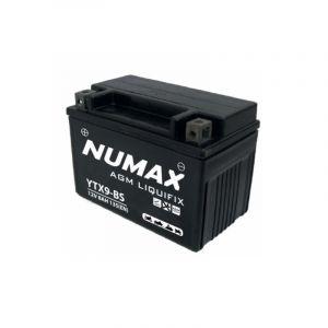 Numax Batterie moto Premium AGM avec pack acide YTX9-BS 12V 8Ah 135A