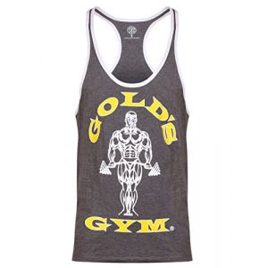 Gold's Gym Gameworld Muscle Joe Contrast - Débardeur sans manches - Homme - Grey Marl - FR: XL (Taille Fabricant : XL)