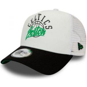 New era Boston Celtics A Frame Adjustable Trucker Cap NBA Neoprene White/Black - One-Size