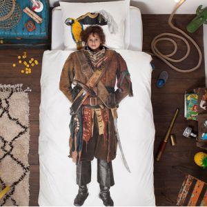 Snurk Pirate - Housse de couette et taie 100% coton (140 x 200 cm)