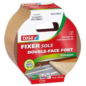 Tesa Adhésif fixation sol écologique - 10 m x 50 mm - Adhésif double face