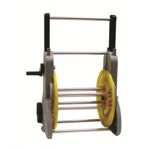 Sigmund s.d.g. Dévidoir sur roues manivelle débray+démult tuyau Ø15 (60m)-Ø19 (50m)