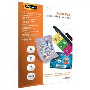 Fellowes 5602101 - Etui de 25 pochettes Admire80, finition mate, format A4, 2 x 80µ