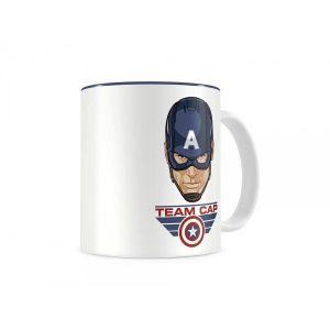 SD Toys Mug Marvel Civil War Team Captain blanc & bleu