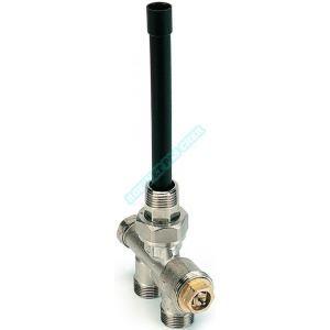 Comap Robinet thermostatique 4 voies à alimentation verticale avec isolement, sans tête, D15x21-M22 Réf : 445422