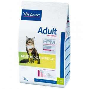 Virbac Adult Cat au Saumon Neutered & Entire - Sac 1,5 kg
