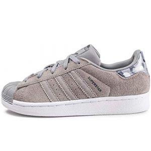 Adidas Superstar Grises Et Camo Enfant Baskets Enfant