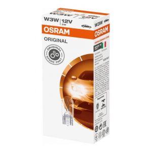 Osram 10 Ampoules 12V W3W Original -carton2821