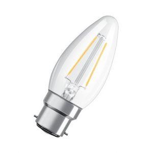 Osram Ampoule flamme LED à filament B22 2,1W 827