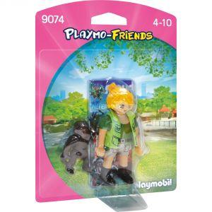 Playmobil 9074 - Soigneuse avec bébé Gorille