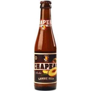 Brasserie de Troch Chapeau Pêche - Bière Blonde - 25 cl - 3,5 %