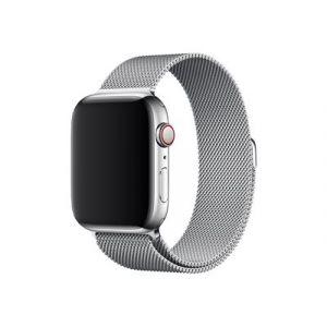 Apple 44mm Milanese Loop - Bracelet de montre - 150 - 200 mm - argent - pour Watch (42 mm, 44 mm)