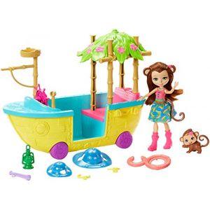 Mattel Enchantimals - Le Bateau D'exploratrice - Coffret Mini Poupée