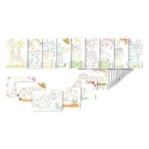 PlayMais 160081 - Set de 24 cartes à décorer
