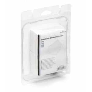 Durable 8915-02 - Lot de 100 cartes PVC standard, format 85,60 x 53,98 mm, pour DuraCard ID300