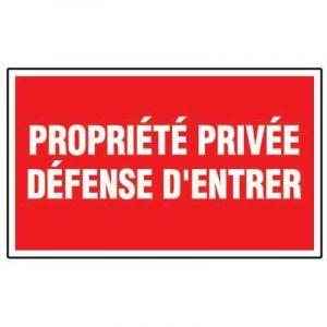 Outibat Panneau de signalisation rectangulaire | Type: Propriété privée - Défense d'entrer