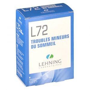Lehning L72 Troubles Mineurs du Sommeil - 30 ml solution gingivale