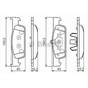 Bosch 4 plaquettes de frein 0986494661