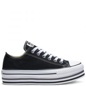 Converse Chaussures casual Chuck Taylor All Star basses en toile EVA Layers Plateforme Noir - Taille 37,5
