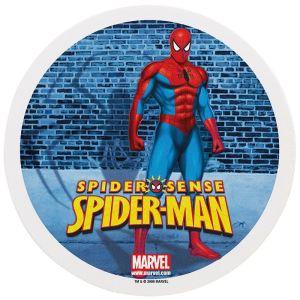 Dekora Disque de décoration en sucre Spiderman (16 cm)