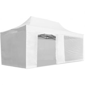 McHaus Tente de réception pliable blanche 3 x 6 m + sac de transport