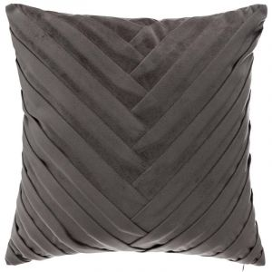 "Atmosphera Coussin Déhoussable Velours ""Tressé"" 40x40cm Gris"