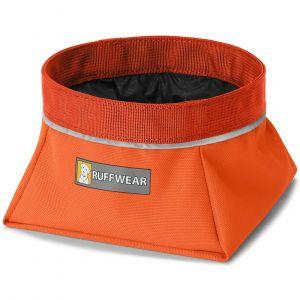 Ruffwear Gamelle portable en tissu pour chien, Taille: L, Capacité: 2,5L, Orange (Pumpkin Orange), Quencher, 20502-855L