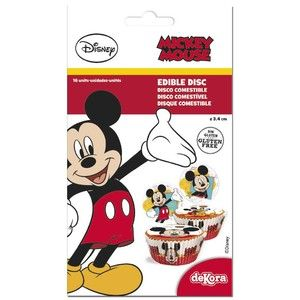 16 mini disques en sucre Mickey 3,4 cm