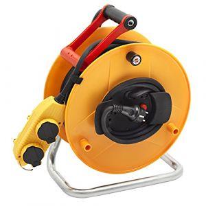 Brennenstuhl Enrouleur standard BT pro 40m H07RN-F 3G1.5 - ENROULEUR GARANT 40 M 3 x 1,5 - GENERIQUE - ENROULEUR ELECTRIQUE DE CHANTIER 40 M POUR TRAVAIL EN HAUTEUR - Long. m : 40 - Nb de prises : 3 - Avec prises décentralisées.Con? Voir la présentation
