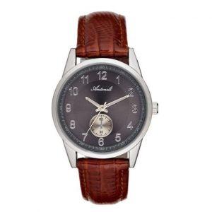 Antoneli Montre Mixte Cadran 35mm En Leather Argenté Et Bracelet Marron En Acier Al1771-01
