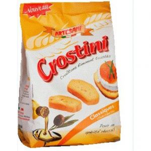 Artesania Crostini classique à l'huile d'olive - Le sachet de 100g