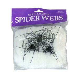 Toile d'araignée et 3 araignées (20g)