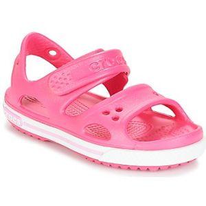 Crocs Crocband II Sandal Kids, Sandales Bout Ouvert Mixte Enfant, Rose (Paradise Pink/Carnation), 20-21 EU