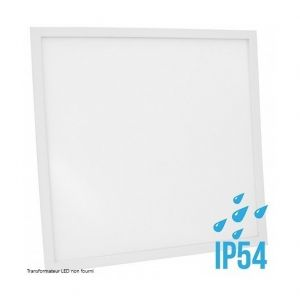Delitech Blanc Chaud - Dalle LED-Cadre Blanc-60x60cm-30W-IP54-Nova (Alimentation non fournie)