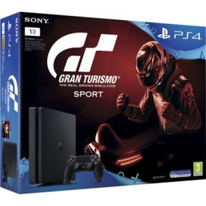 Sony Pack Playstation 4 Pro 1 To Noire + Gran Turismo Sport + Qui es-tu ?