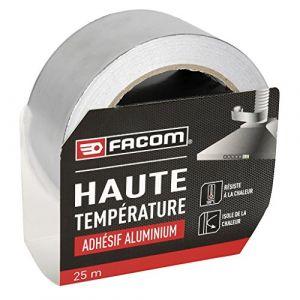 Facom Adhésif aluminium haute température 25m x 50mm - Adhésif de réparation robuste et durable - Idéal pour protéger, couvrir et réparer.