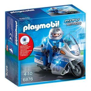 Playmobil 6876 City Action - Moto de policier avec gyrophare
