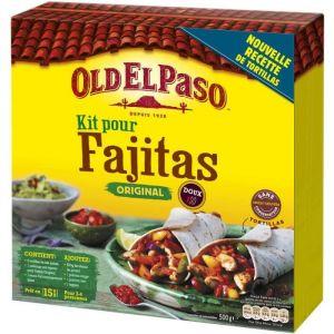 Old el paso Kit pour fajitas original, doux - La boîte de 500g