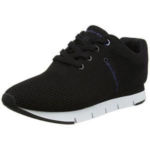 Calvin Klein Jeans Tada Mesh, Sneakers Basses Femme, Noir (Blk 000), 40 EU