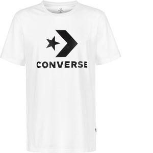 Converse STAR CHEVRON TEE, BLANC - BLANC - homme - TEE SHIRT