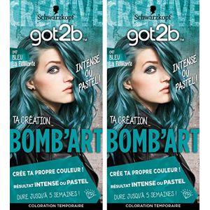 Schwarzkopf Got2b Color - Coloration Cheveux - Bomb'art Bleu - 097 la Pétillante - Semi Permanent