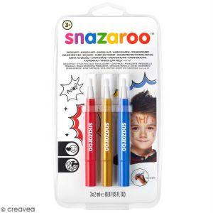 Snazaroo Set 3 pinceaux maquillage - Aventure