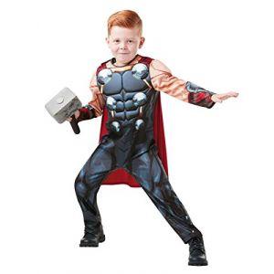 Déguisement deluxe Thor avec marteau enfant Taille: 3 à 4 ans (104 cm)